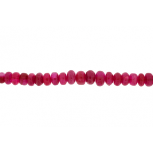 Jade Red Faceted Rondelle Beads, 4 x 2 mm