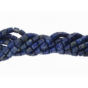 Lapis Cylinder Beads 10x12mm