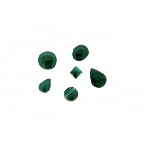 Malachite Cabs Oval, 4 x 6 mm