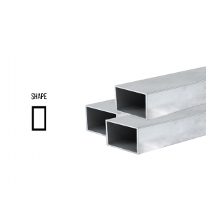 Sterling Silver 925 Rectangular tube ex. D 12mm x 6mm, 0.5mm wall Rectangular