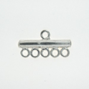 Sterling Silver 925 End Bar 5 Row Connector