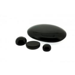 Onyx Cabs, Black, Oval, 10 x 14 mm