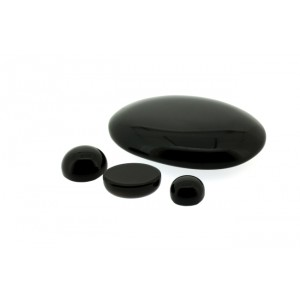 Onyx  Cabs, Black, Oval, 7 x 9 mm Onyx Gemstones