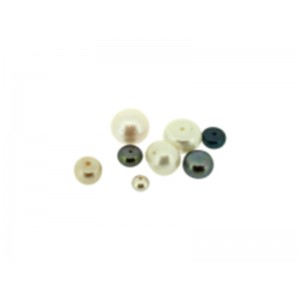 Pearl Half Drilled Round, 8 - 9 mm  Pearl Gemstones