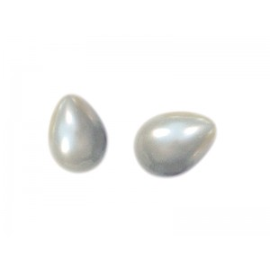 Pear drop pearls, 4 x 6 mm