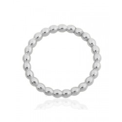 SILVER PEARL WIRE RING 3MM (SIZE V)