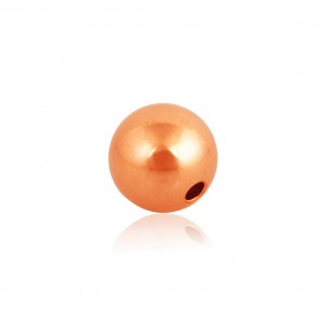 Gold Filled Red Round 2 hole Bead 4mm