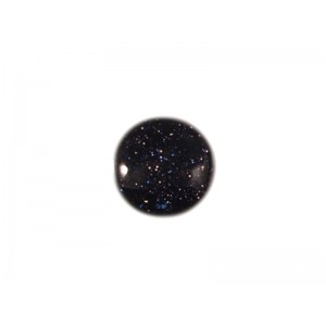 Goldstone Blue Cabs Round 10mm