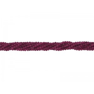 Ruby 2mm Round Faceted beads