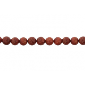 Coral Sea Bamboo Dyed Round Beads, 8 mm