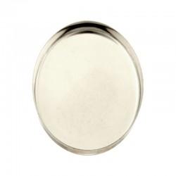 Sterling Silver 925 Oval Bezel Cup 22 x 30mm
