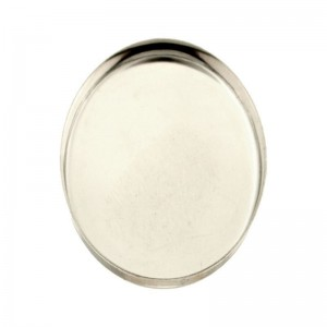 Sterling Silver 925 Oval Bezel Cup 22 x 30mm