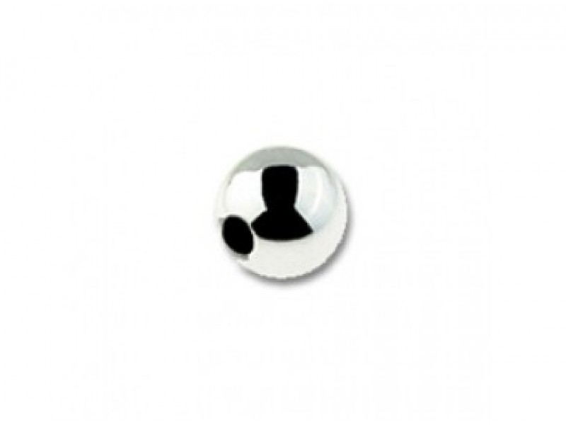 Sterling Silver 925 Round Bead 12mm, 2 holes 2 Holes