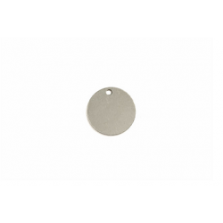 Sterling Silver 925 Drilled Round Disc,12 x 0.5mm