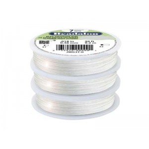 7 Strand Bead Stringing Wire, .020 in (0.51 mm), Silver Color, 30 ft (9.2 m)