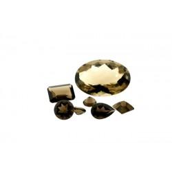 Smoky Quartz Cut Stone, Round, 8 mm