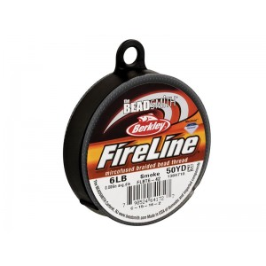 Fireline Beading Thread, Smoke, 6LB, 0.15mm x 50 Yard Reel - BEADING & STRINGING MATERIALS, CORDS & LEATHERS
