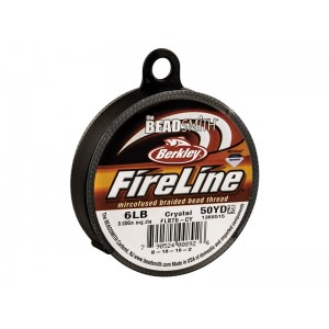 Fireline Beading Thread, Crystal, 6LB, 0.15mm x 50 Yard Reel - BEADING & STRINGING MATERIALS, CORDS & LEATHERS