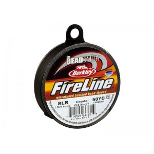 Fireline Beading Thread, Crystal, 8LB, 0.17mm x 50 Yard Reel