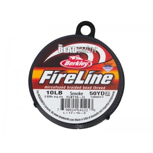 Fireline Beading Thread, Smoke, 10LB, 0.20mm x 50 Yard Reel