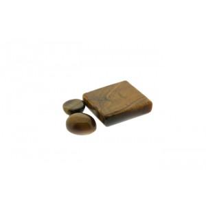 Tiger Eye Cabs, Oval, 10 x 12 mm Tiger's Eye Gemstones