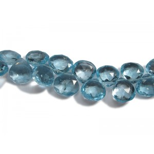 Blue Topaz Badamche / Briolette  Beads
