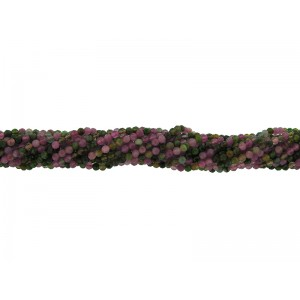 Mixed Colour Tourmaline Faceted Round Beads - 2mm