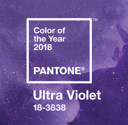 PANTONE® COLOR OF THE YEAR 2018 - ULTRA VIOLET